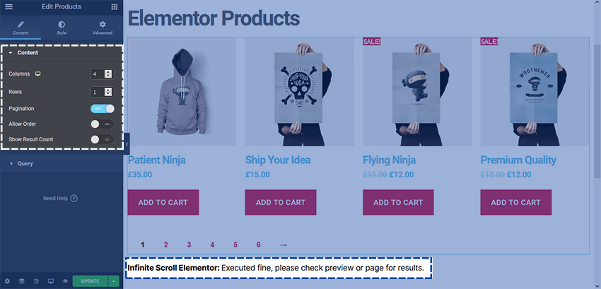How to add WooCommerce Infinite Scroll in Elementor - Joy Chetry